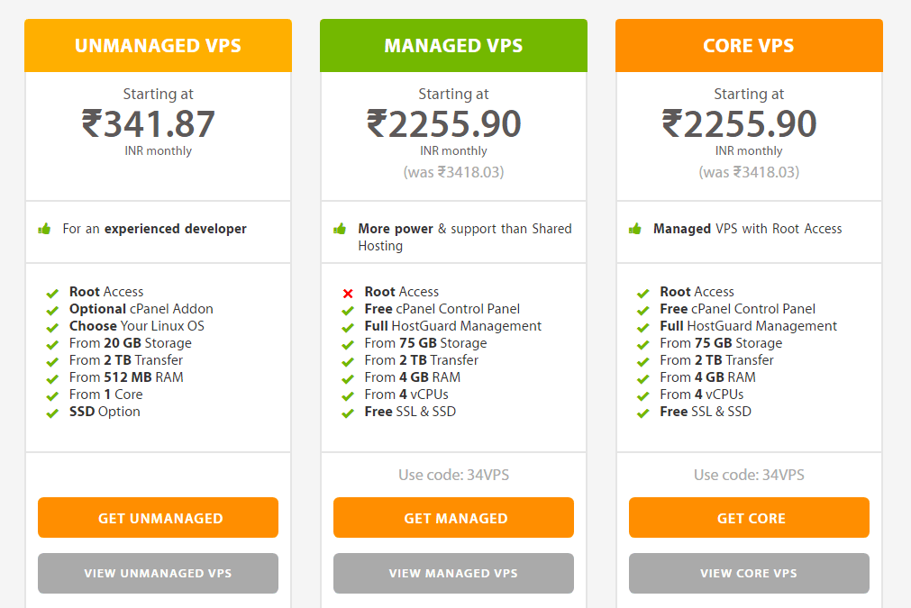 A2 hosting vps hosting plans and pricing
