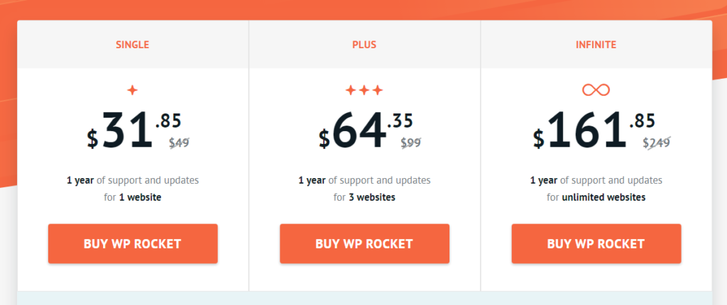 wp rocket black friday pricing