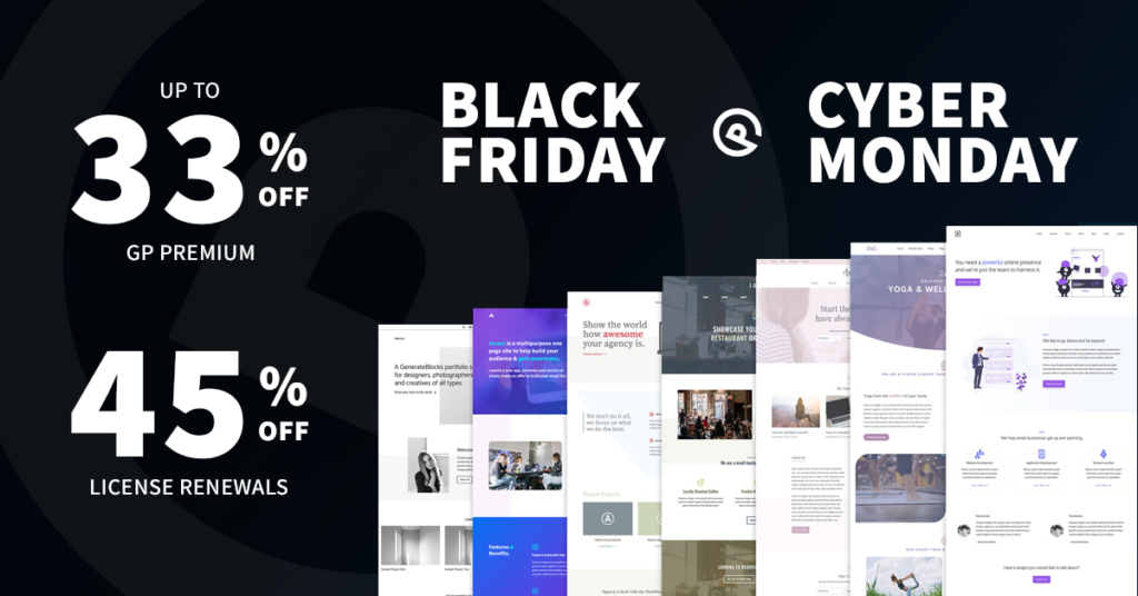GeneratePress Black Friday sales